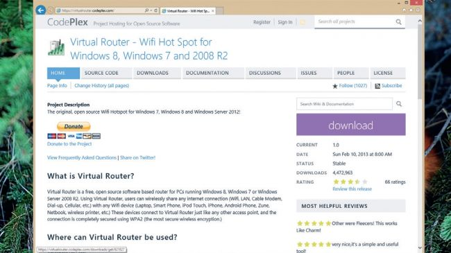 download virtual router