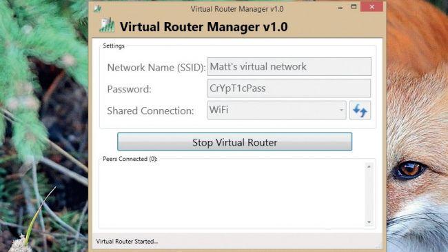 Jalankan virtual router