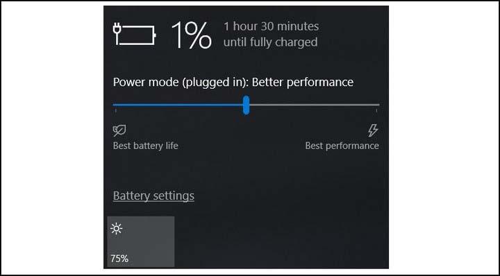 baterai windows 10 habis 1 persen