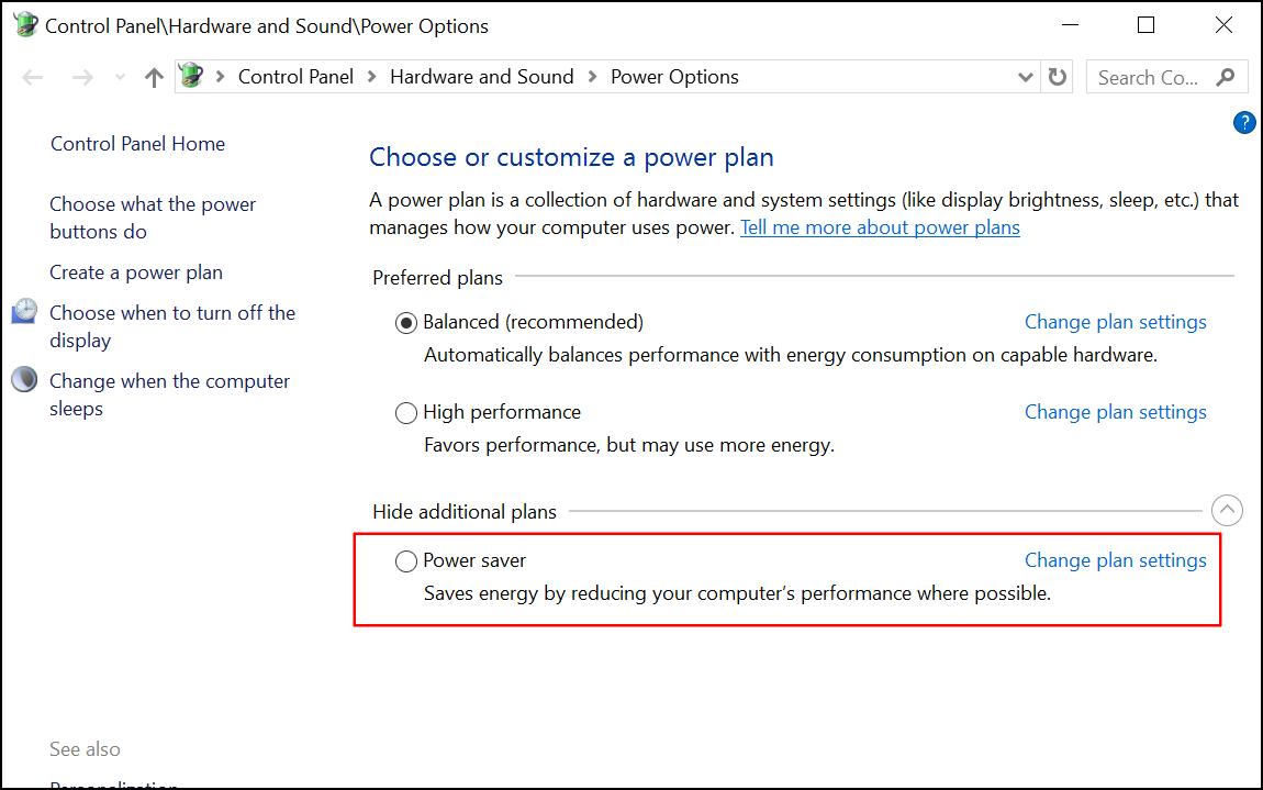 power plan windows