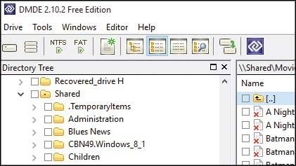 Cari file yang dapat dikembalikan