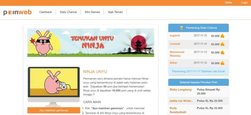 poin web - game penghasil uang