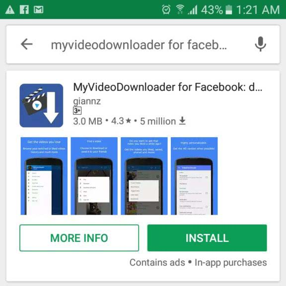 MyVideo Downloader for Facebook Install