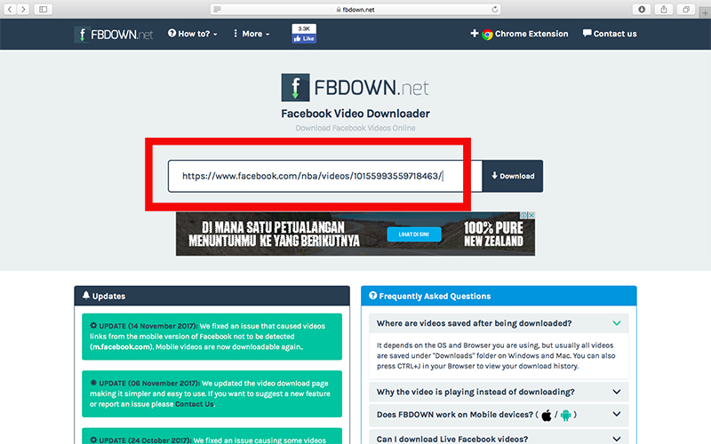 fbdown 2 - cara download video facebook