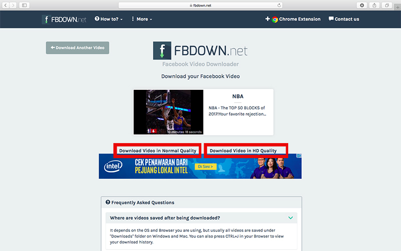 fbdown 3 - cara download video facebook