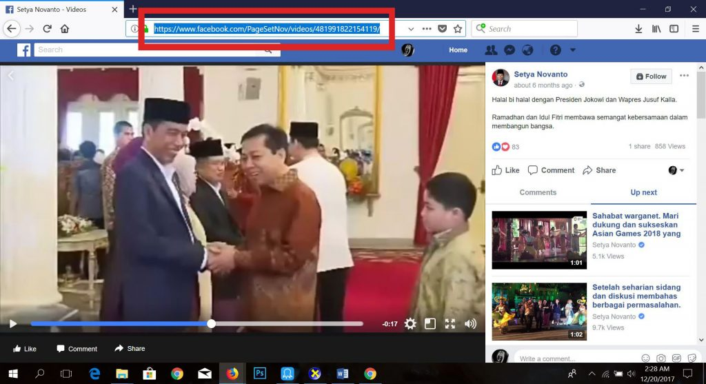cara download video di facebook - setnov video