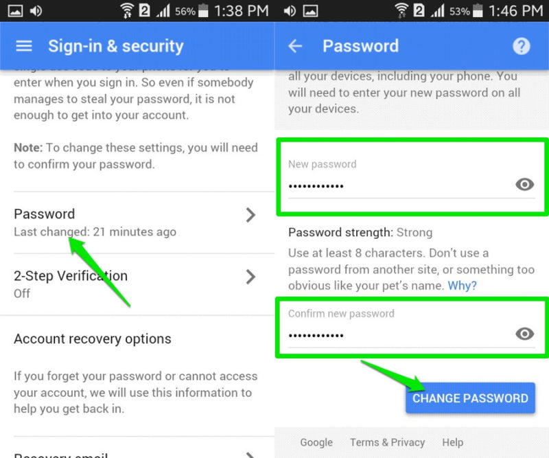 cara ganti password gmail dari smartphone 2