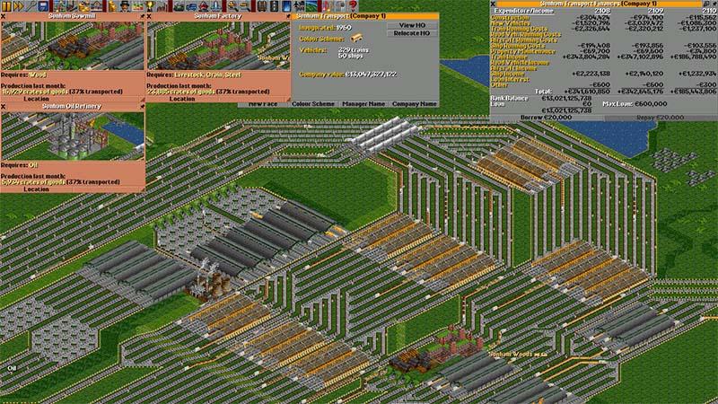 Open TTD game kereta api