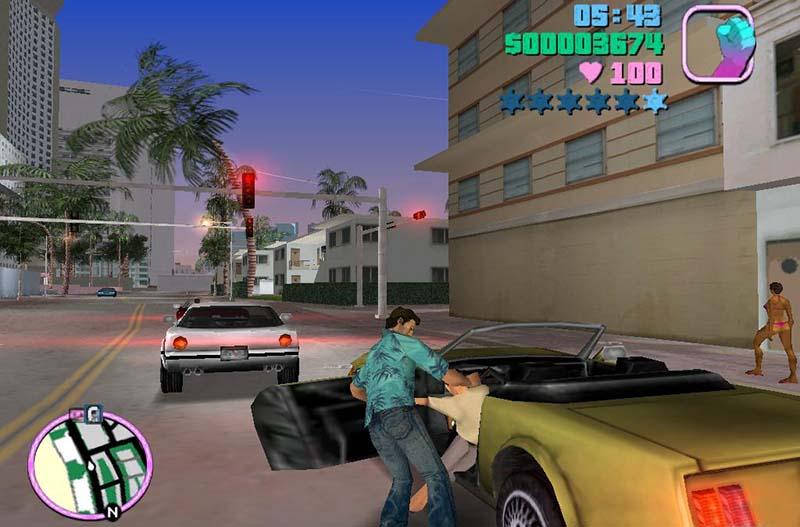 GTA Vice City merebut mobil
