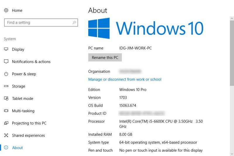 Apa OS dan RAM di komputer saya