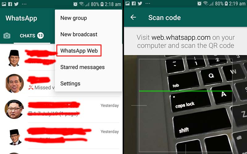 Whatsapp Web Smartphone