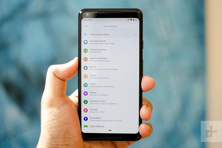 halaman setting smartphone