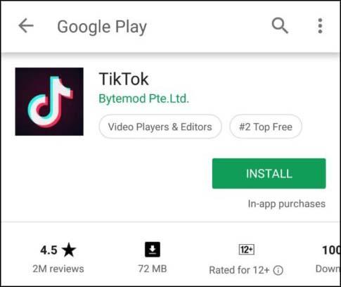 tiktok google play