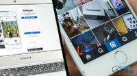 upload foto instagram di laptop
