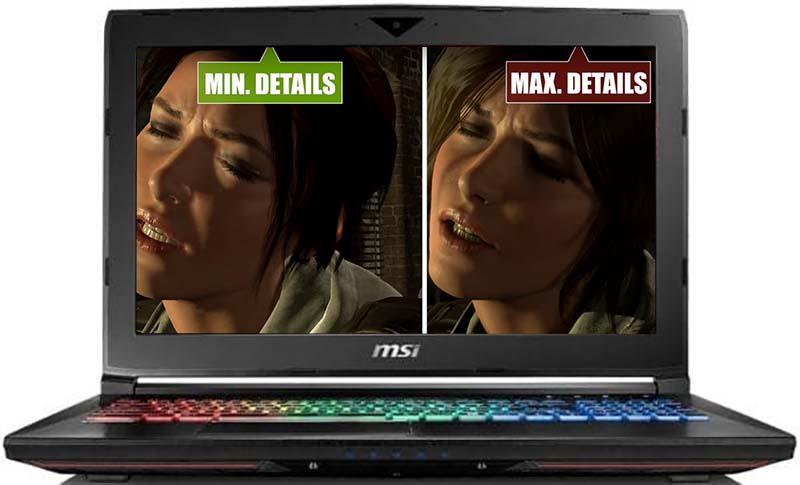 MSI GP62MVR 7RFX-1020 Leopard Pro Lara Croft