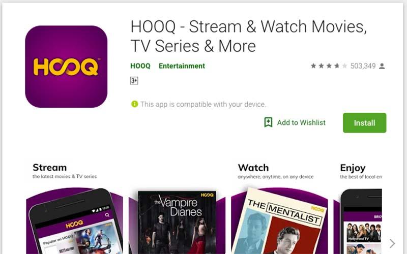 HOOQ google play