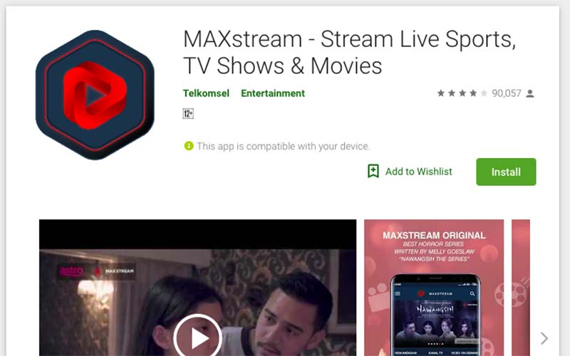 Maxstream google play
