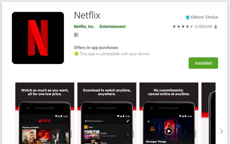 Netflix google play
