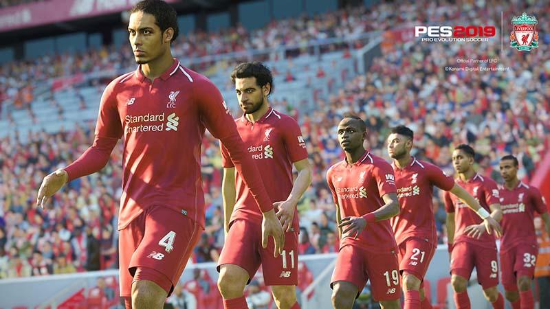 PES 2019 Liverpool Mo Salah poster