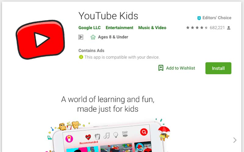 Youtube kids google play
