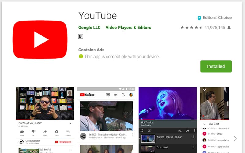 Youtube google play