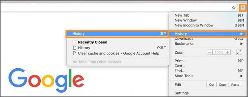 Chrome lihat history