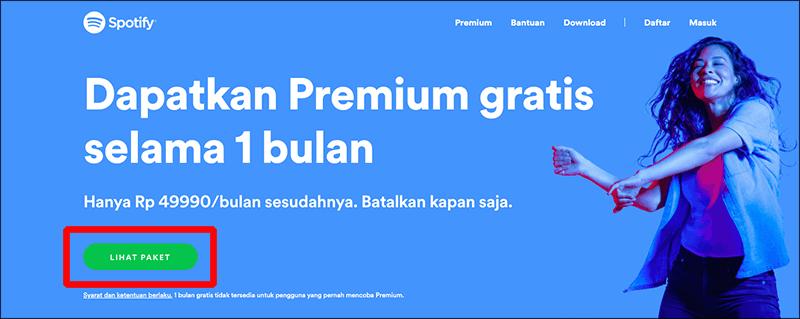 Dapatkan premium gratis selama 1 bulan