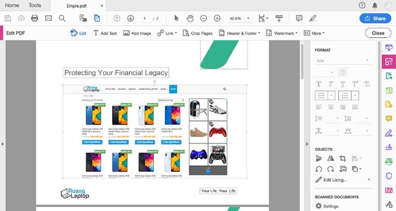 Edit PDF di Adobe Acrobat