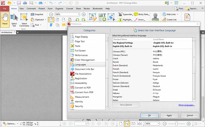 Edit PDF di PDF Xchange Suite