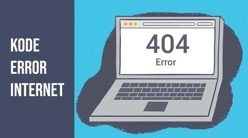 Kode error internet