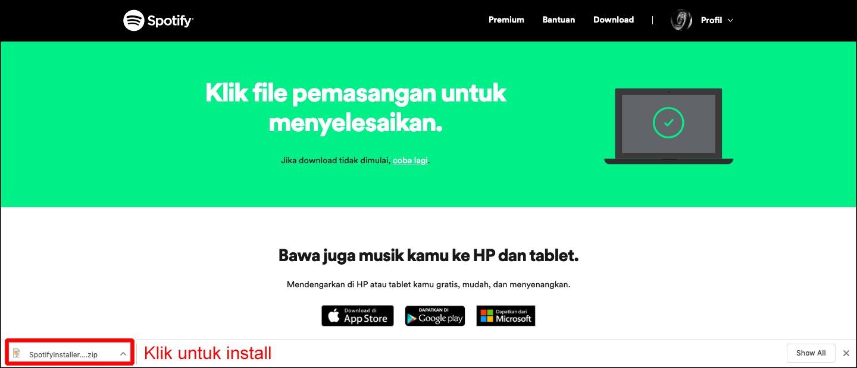 instal spotify