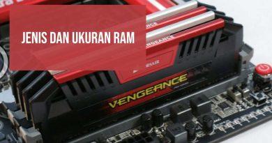 Jenis dan Ukuran RAM DDR: 512KB hingga 16GB