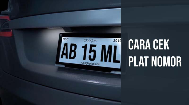 Cek Informasi Plat Nomor Kendaraan Online Ruanglaptop