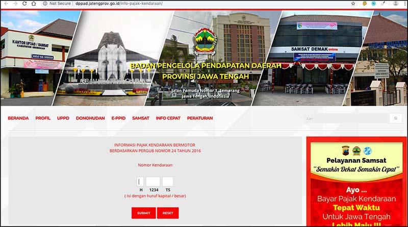 e-samsat Jawa Tengah