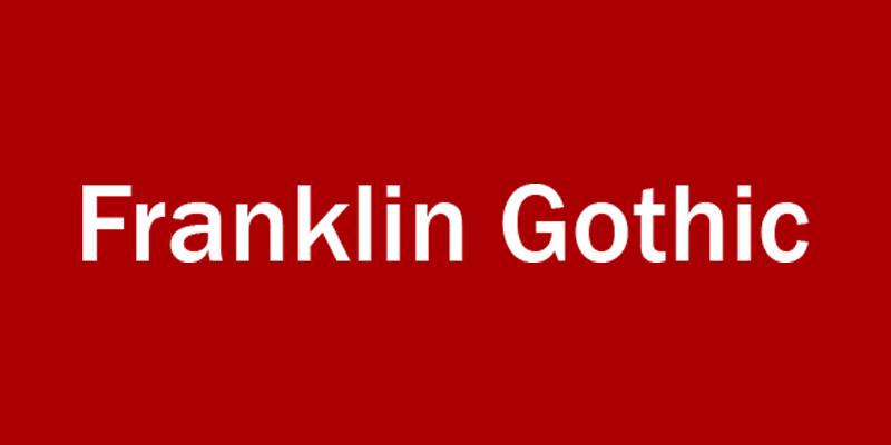 Franklink gothic font