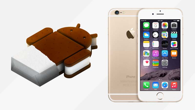 android ice cream sandwich dan iphone 6