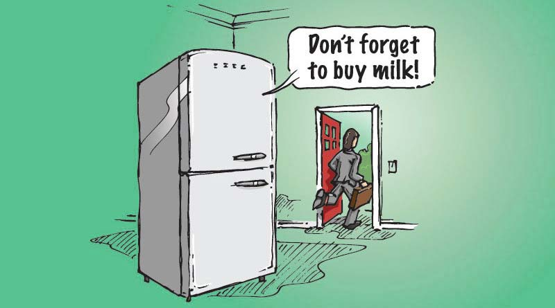 dont forget to buy milk iot
