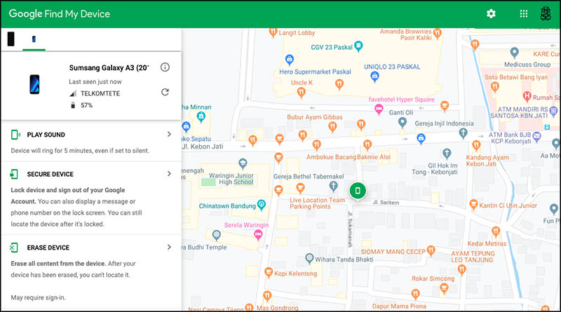 Google Find My Device ruanglaptop 2