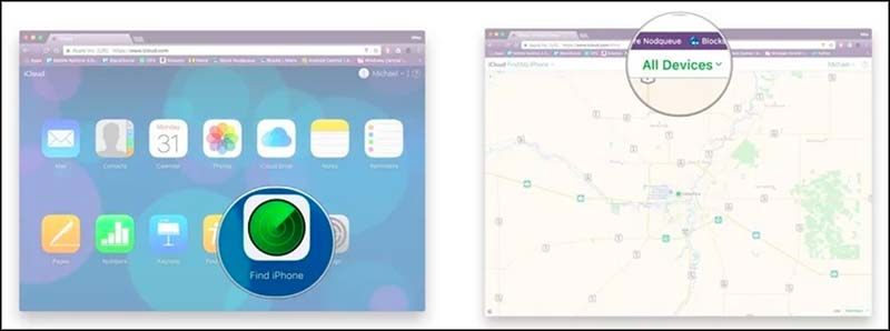 menggunakan find my iphone di browser