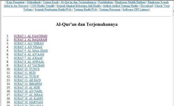 Al Quran dan Hadist