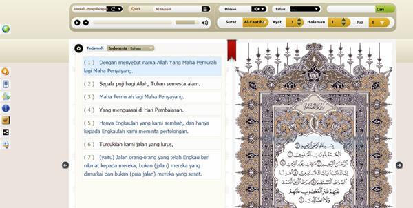 Aplikasi Alquran PC Ayat KSU (King Saud University)-Electronic Mosshaf Project