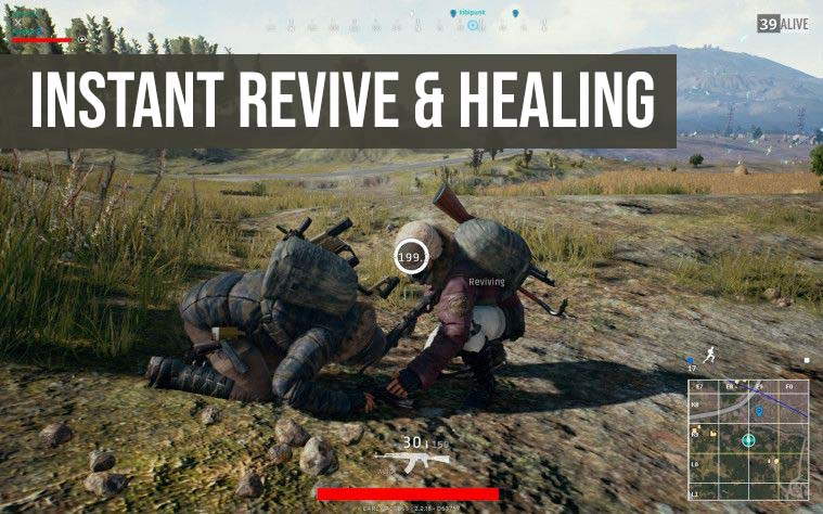 Instant revive and healing pubg mobile