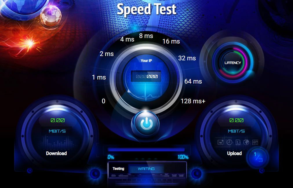 cara cek kecepatan internet Ping-test.net