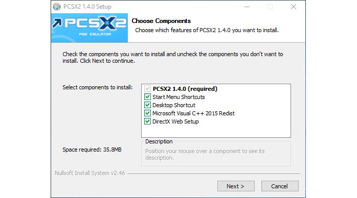 pcsx2 install