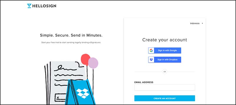 Hellosign signup
