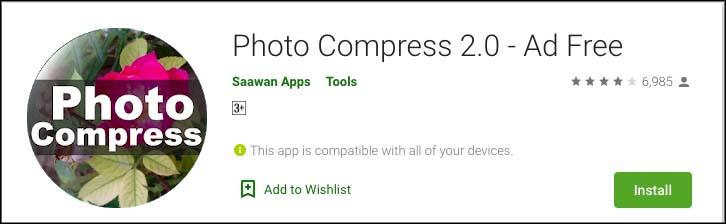 Photo compress 2 ad free