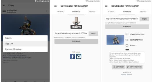 cara download video instagram menggunakan video downloader for instagram