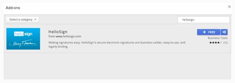 Menggunakan HelloSign dengan Google Docs