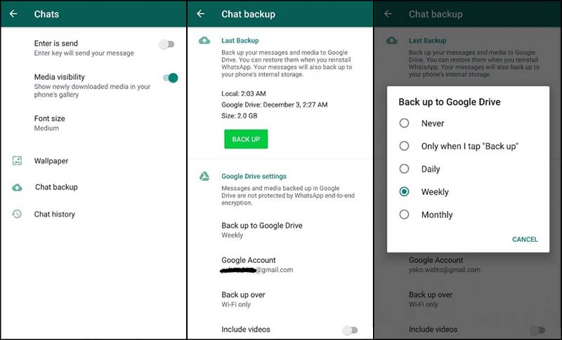 Cara Backup Whatsapp ke HP Lain
