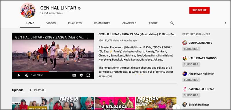Gen halilintar youtube